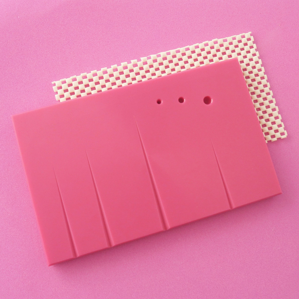 "NON-STICK PINK BOARDS 8"" X 5""  GROOVED"