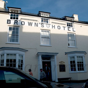 Browns Hotel Laugharne.