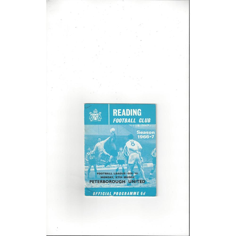 1966/67 Reading v Peterborough United Football Programme