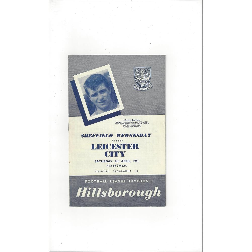 1960/61 Sheffield Wednesday v Leicester City Football Programme