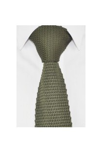 Knitted Tie Green, Mens