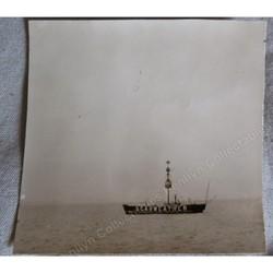 Scarweather Lightship Original Photo Bristol Channel 1933