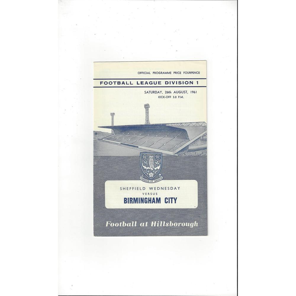 Sheffield Wednesday v Birmingham City 1961/62