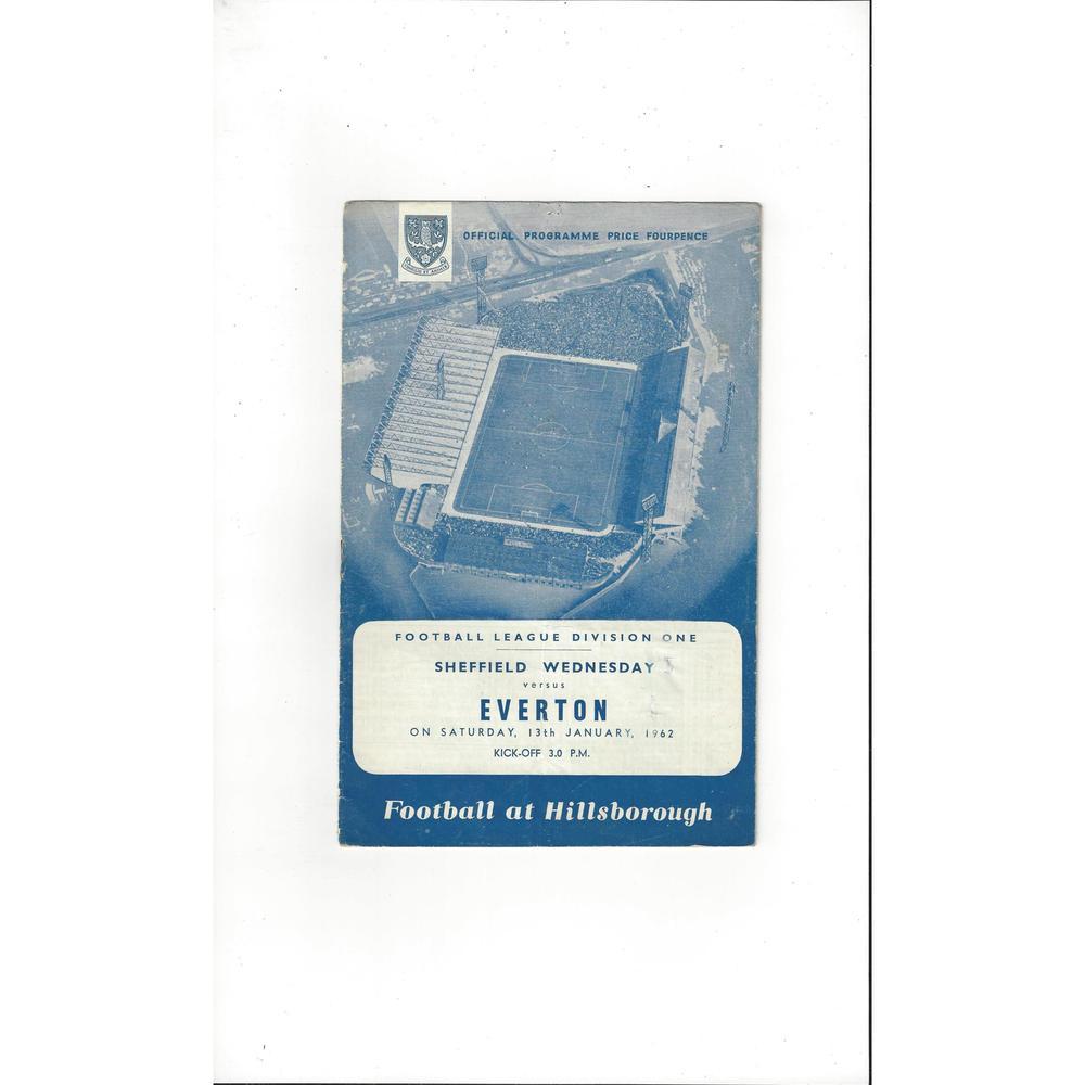 1961/62 Sheffield Wednesday v Everton Football Programme
