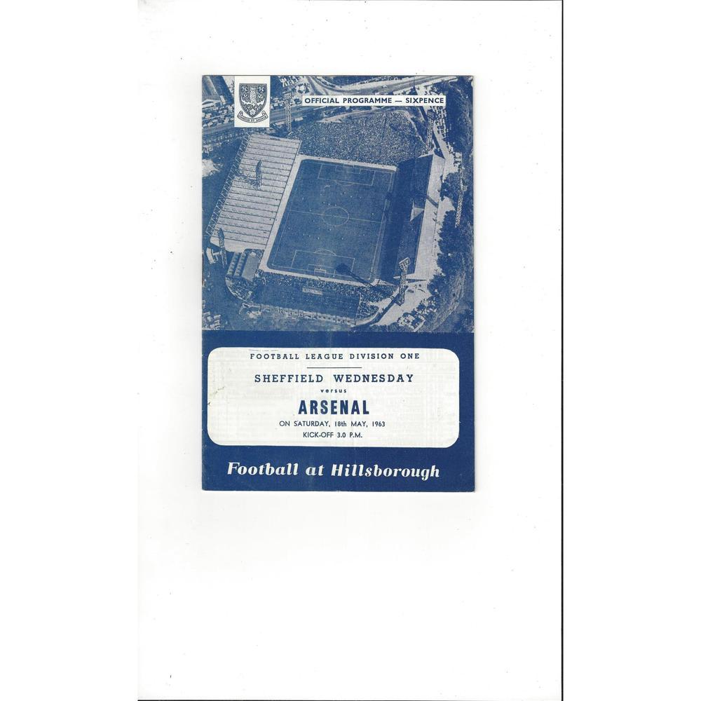 1962/63 Sheffield Wednesday v Arsenal Football Programme