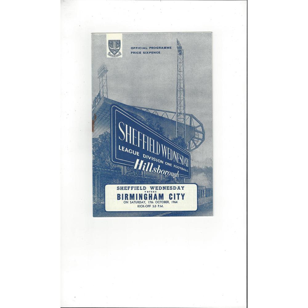 Sheffield Wednesday v Birmingham City 1964/65