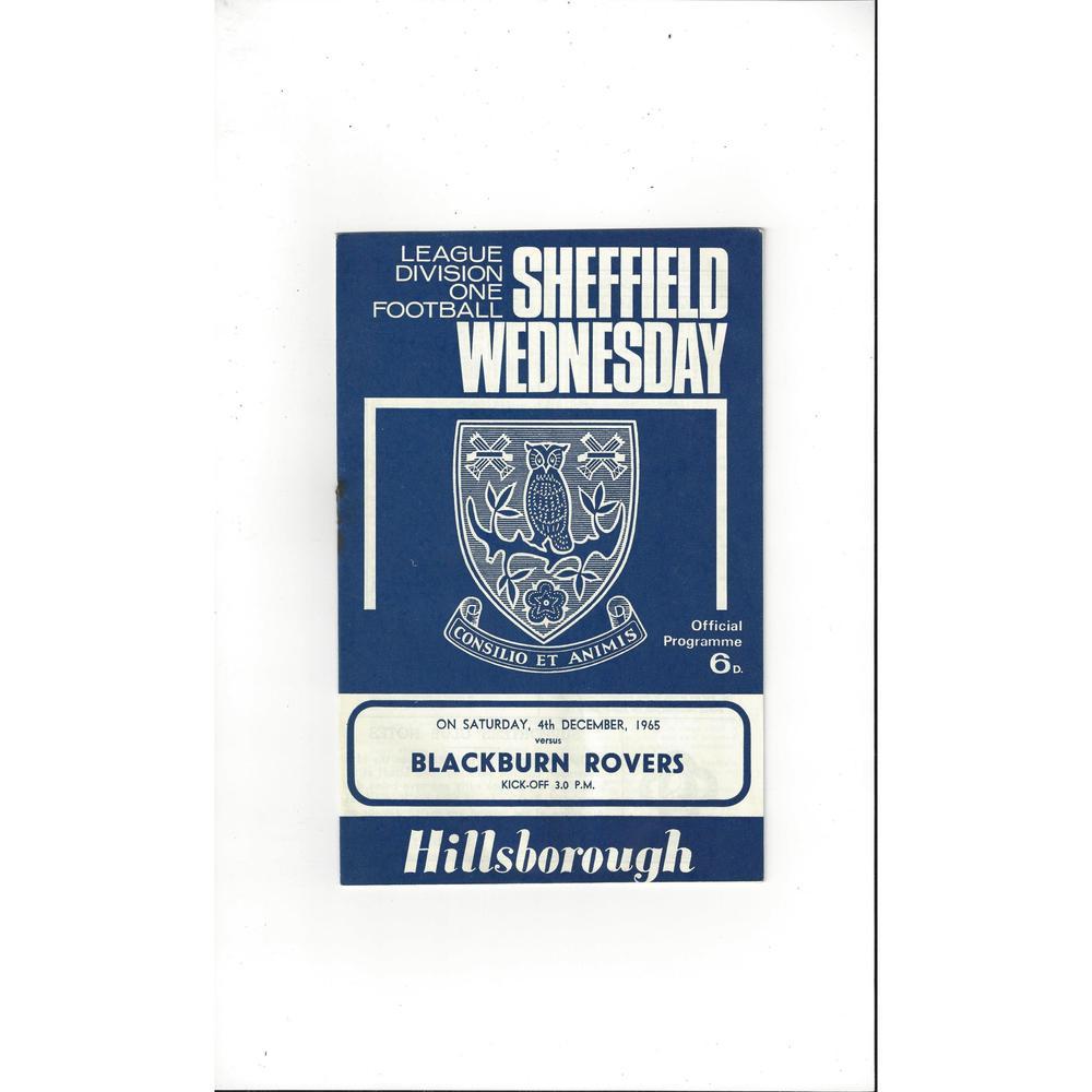 Sheffield Wednesday v Blackburn Rovers 1965/66