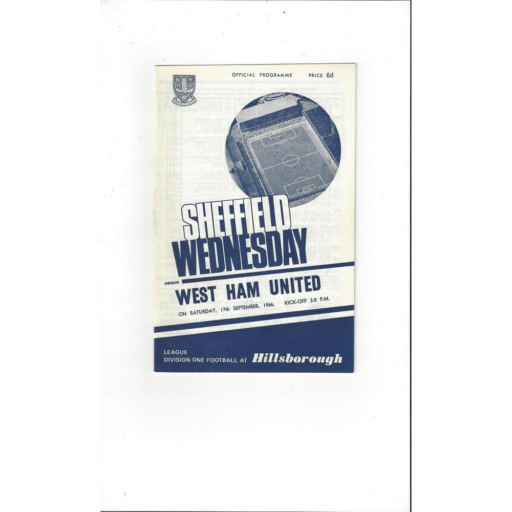 Sheffield Wednesday v West Ham United 1966/67