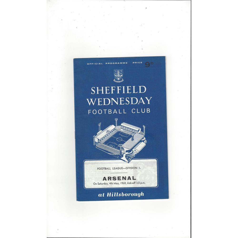Sheffield Wednesday v Arsenal 1967/68