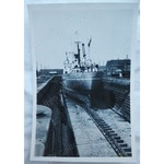 MV Gartwood (Constantine Lines) in Cardiff Drydock 1951 Photo