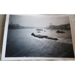 River Thames Barge Shipping Original Photo c 1953