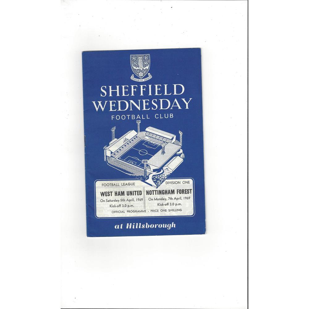 Sheffield Wednesday v West Ham United & Nottingham 1968/69
