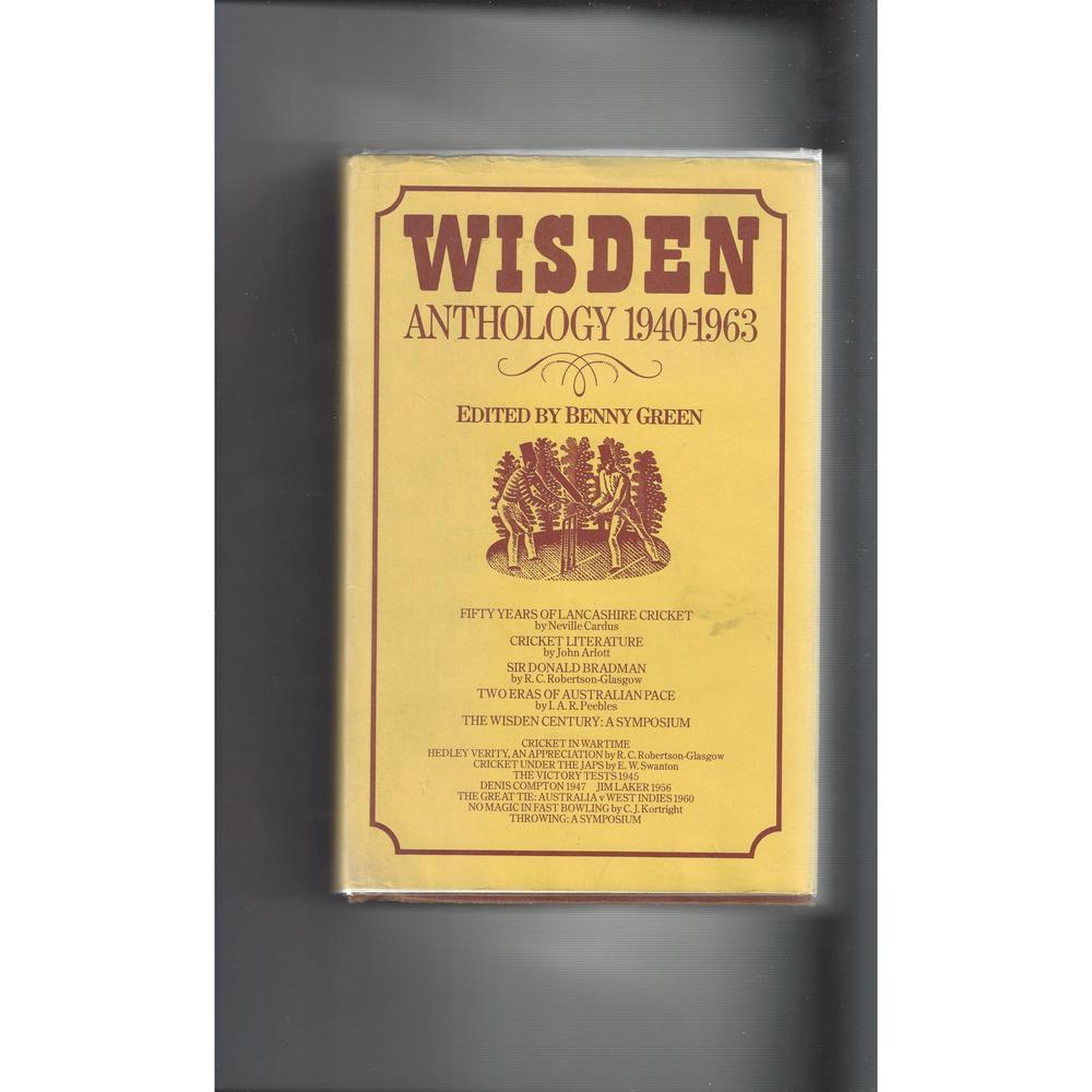 Wisden Anthology 1940 - 1963 Hardback Cricket Book 1st Edition 1982