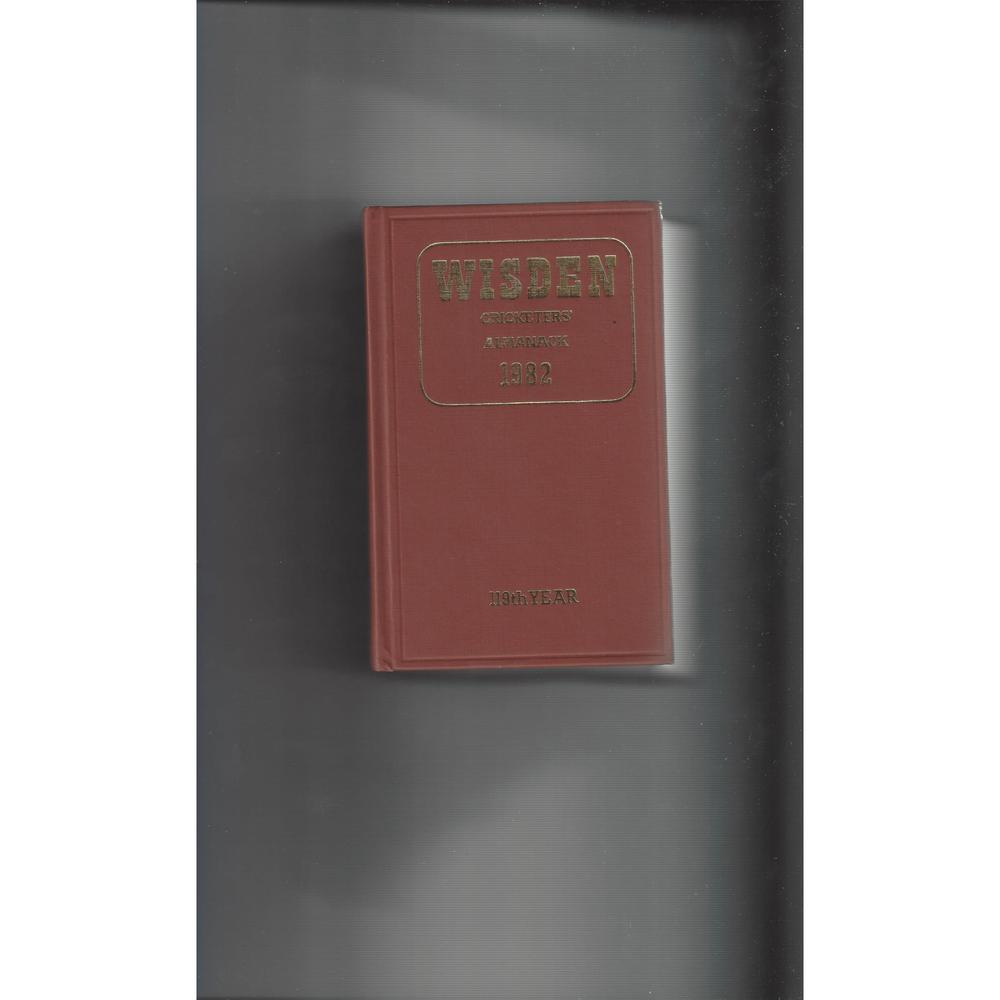 Wisden Cricketers Almanack Hardback Cricket Book 1982 - 118th Year