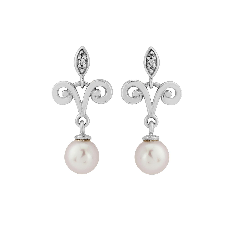 9ct Pearl Chandelier Earrings