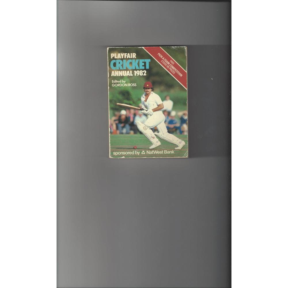 Playfair Cricket Annual 1982