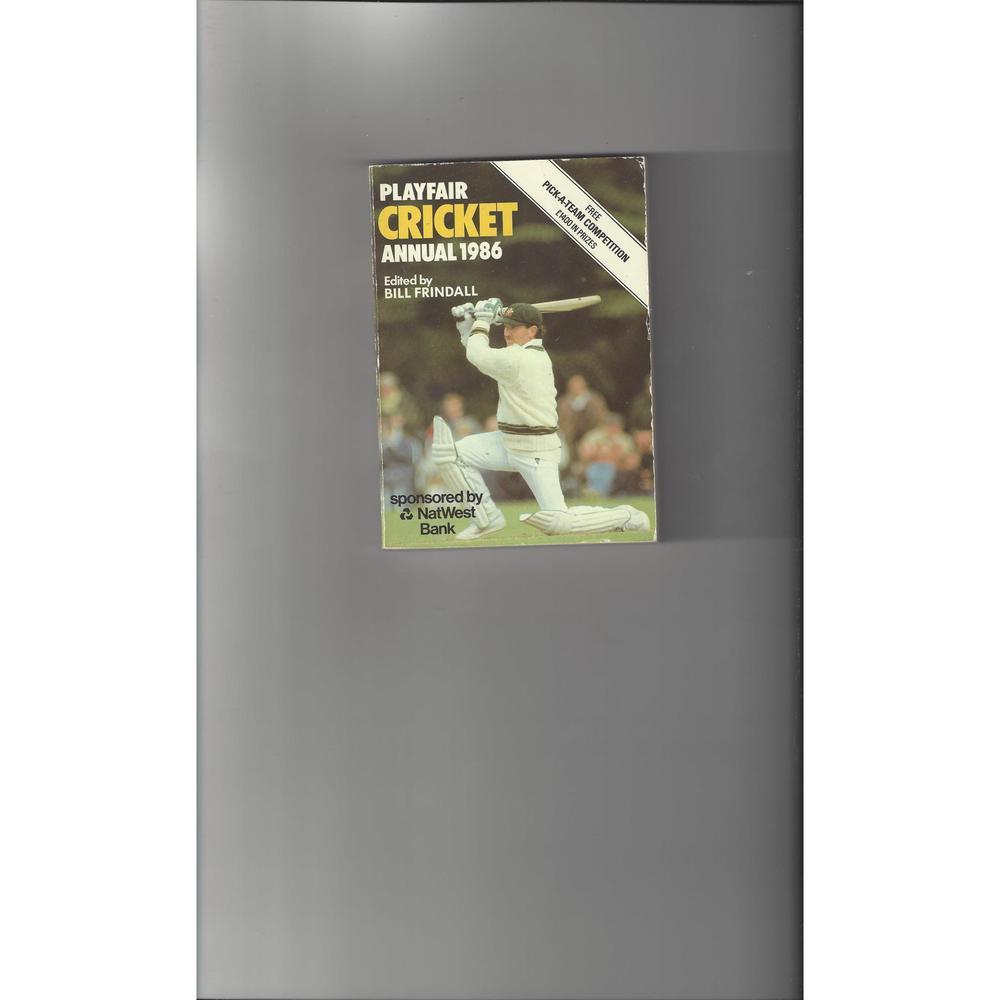 Playfair Cricket Annual 1986