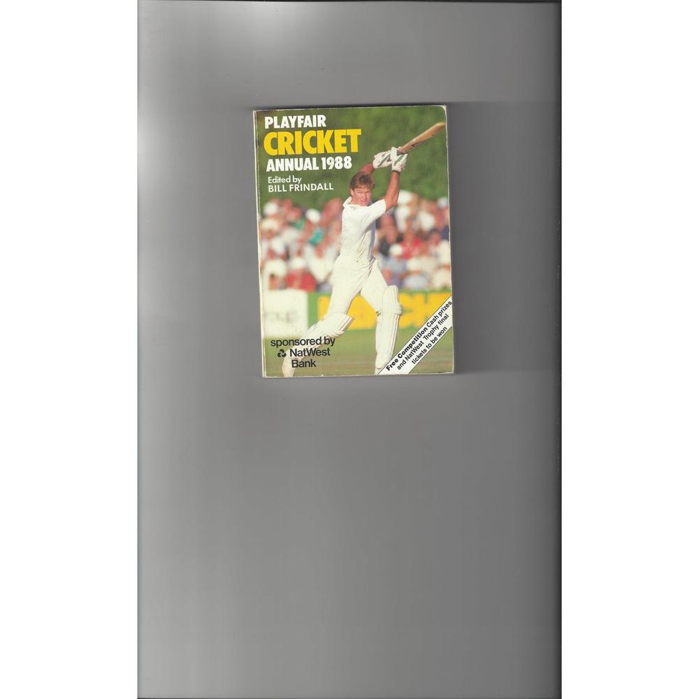 Playfair Cricket Annual 1988