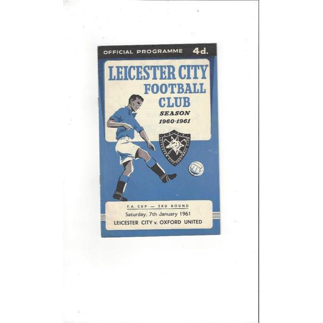 1960/61 Leicester City v Oxford United FA Cup Football Programme