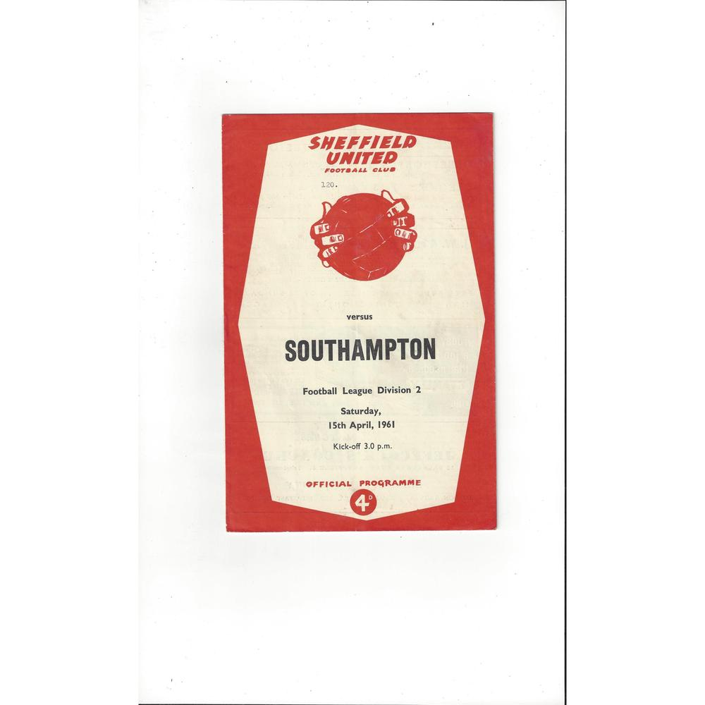 1960/61 Sheffield United v Southampton Football Programme