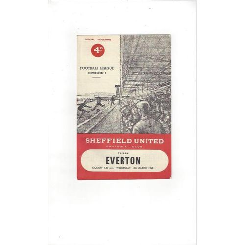 1961/62 Sheffield United v Everton Football Programme