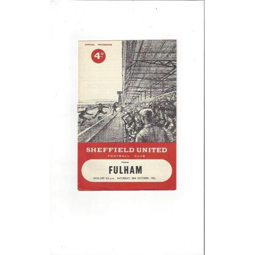 1961/62 Sheffield United v Fulham Football Programme