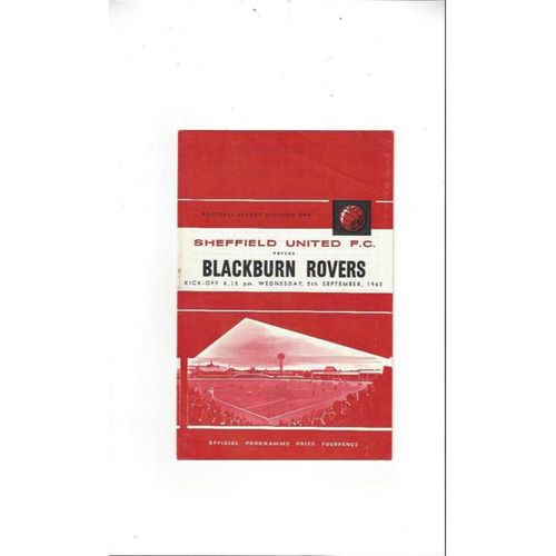 1962/63 Sheffield United v Blackburn Rovers Football Programme