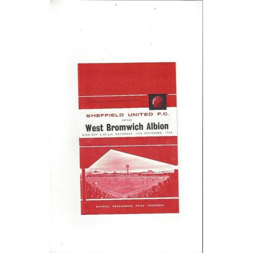 Sheffield United v West Bromwich Albion 1962/63