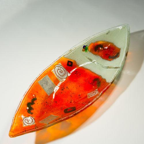 Orange Zest Oval Dish