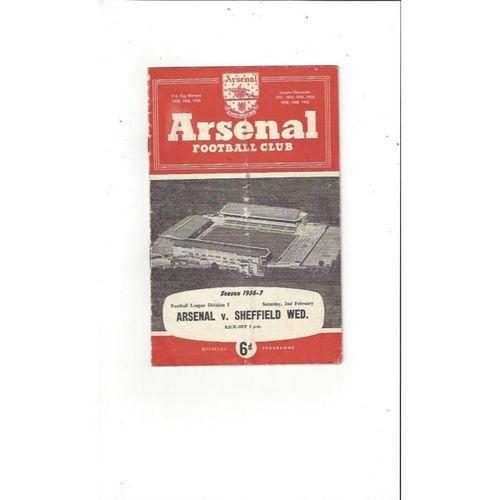 Arsenal v Sheffield Wednesday 1956/57