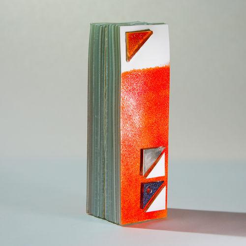 Orange Zest Tower Vase