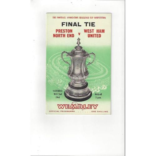 Preston v West Ham United FA Cup Final 1964