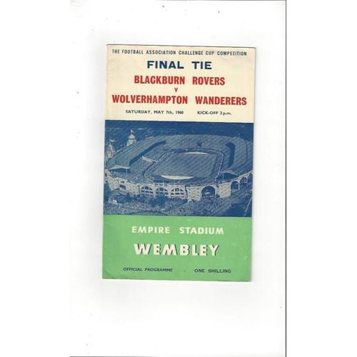 Blackburn Rovers v Wolves FA Cup Final 1960