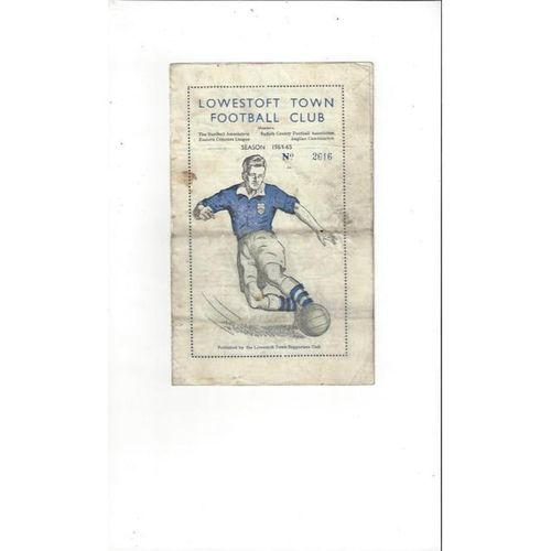 1964/65 Lowestoft Town v Clacton Eastern Counties Cup Football Programme