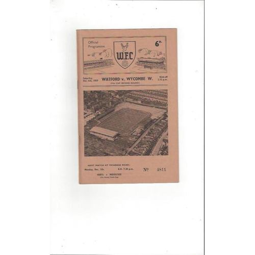 Wycombe Wanderers Football Programmes