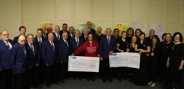 CHEQUE PRESENTATION TO HELP4HEROES AND SSAFA