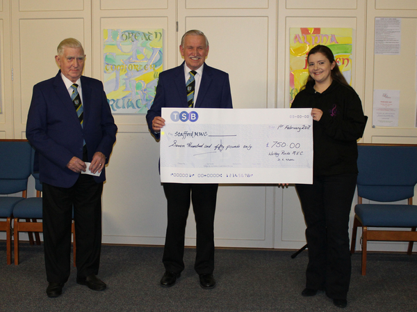 CHEQUE PRESENTATION FOR SSAFA