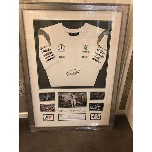 Lewis Hamilton Signed Mercedes Shirt