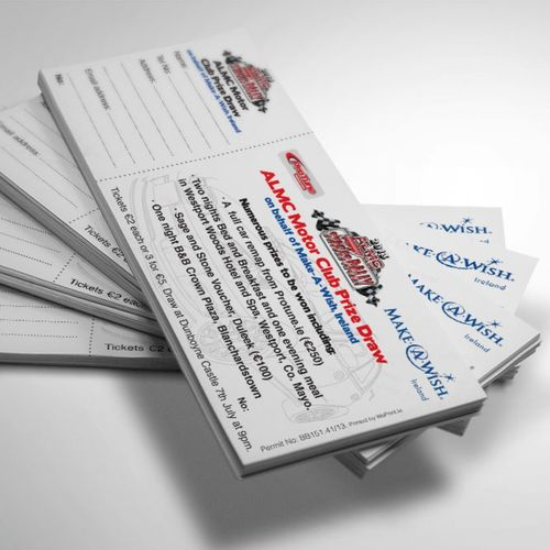 Event Tickets 200mm x 70mm