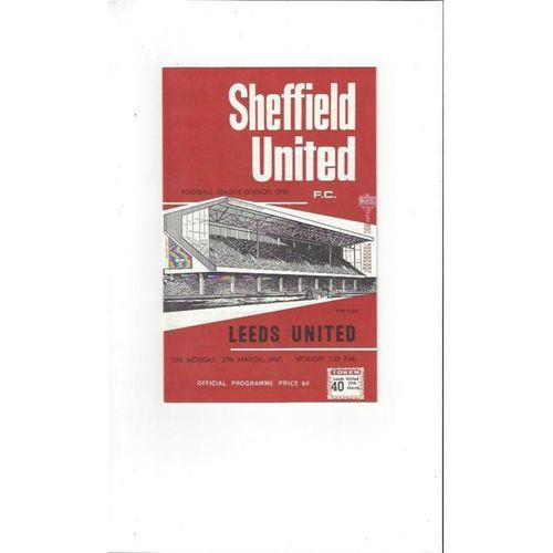 Sheffield United Home Football Programmes