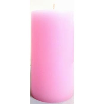 """3x6"""" Pink Pillar Candle"""