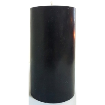 3x6 Black Pillar Candle