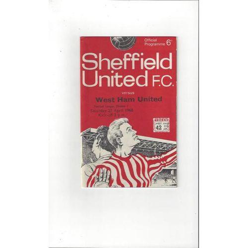 Sheffield United v West Ham United 1967/68