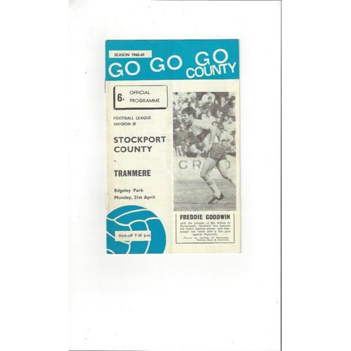 Tranmere Rovers Away Football Programmes