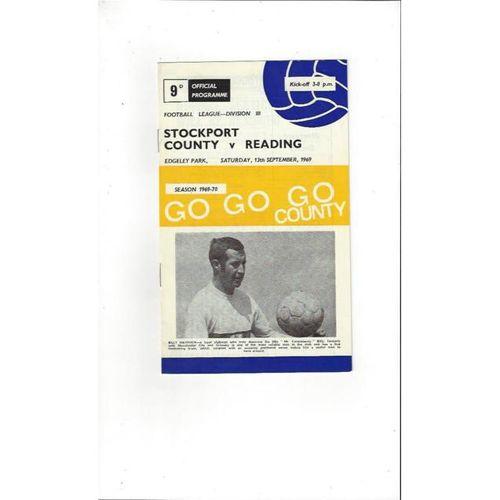 1969/70 Stockport County v Reading Football Programme