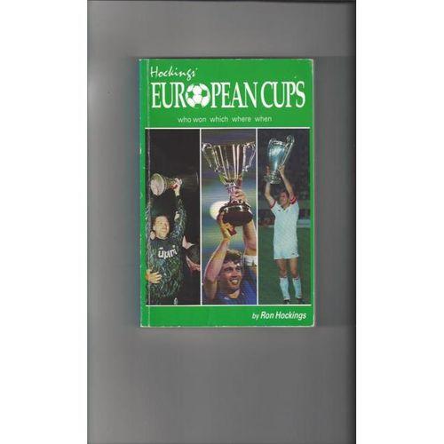 European Cups by Ron Hockings softback Football Book 1990