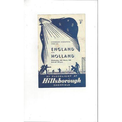 England v Holland 1960 @ Hillsborough U23 International