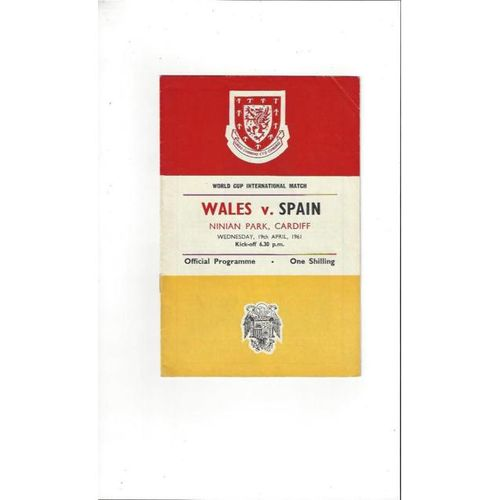 1961 Wales v Spain Football Programme @ Cardiff