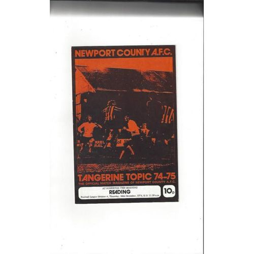 1974/75 Newport County v Reading Football Programme