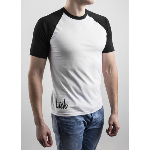 Slim Fit Contrast Black T-shirt